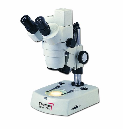 Thomas 1100500200101T Digital Stereo Microscope With Built-In Digital Camera And Space-Saving Base, 20Mm Eyepiece, Standard Achromat Objective, 12V, 1X - 4X Magnification
