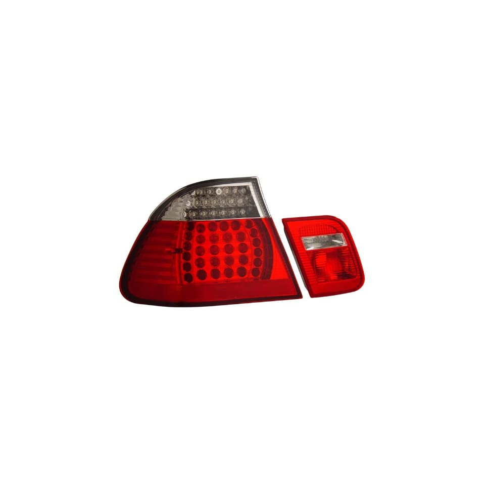 1999 2001 Bmw 3 series E46 4 Dr Led Tail Lights Red/clear 4pcs