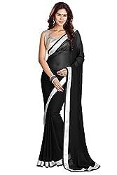 SRP Fashion Selection Women's Chiffon Saree (SRP-OF69, Green)