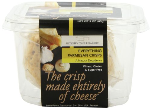 Kitchen Table Bakers Everything Parmesan Parmesan Crisps 3 Ounce Packages Pack Of 4