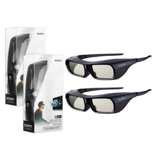 2X New Original Black Sony TDG-BR250 Active Shutter 3D Glasses for Bravia HDTV