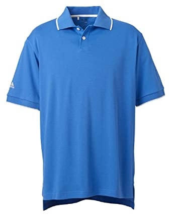 adidas Golf Men's ClimaLite� Tour Jersey Short-Sleeve Polo - GULF/WHITE - S