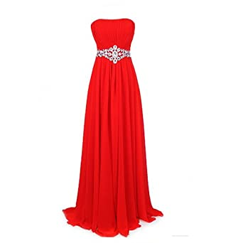 TBY Bride Long Sequins Tube Dress Fishtail Evening Party Prom Gowns Lace Up Red S