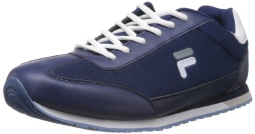 Fila Men Jog Pk Navy and  White Mesh Track and Field Shoes  8 UK