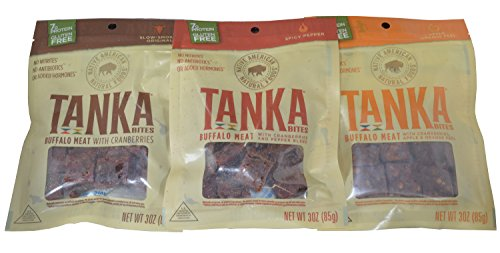 Tanka Bites Buffalo Meat Variety Pack of 3 Picture