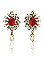 Zaveri Pearls Studded Earrings For Women - ZPFK323