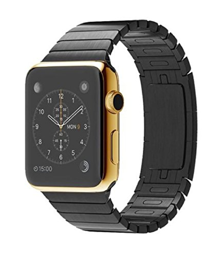 42MM Apple Watch 24K Karat GOLD plated w/ Space Black Link