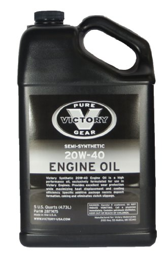 Victory 5 Quart 20w 40 Semi Synthetic Engine Oil