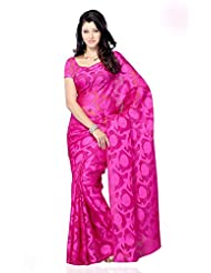 Shariyar Red Art Silk Printed Saree PRG372