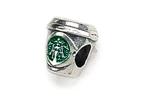 Zable Sterling Silver Popular Coffee Cup Pandora Compatible Bead / Charm