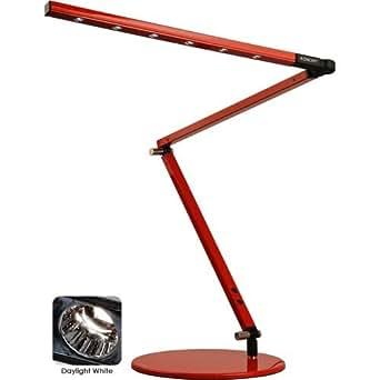 "Daylight White Light Z-Bar Desk Lamp (Red) (43""H x 9""W x 9""D) Generation 2"