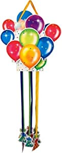 Creative Converting Birthday Balloon Paper Pinata with Pull Strings