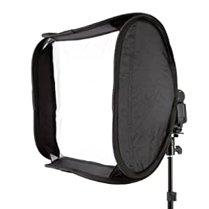 Delamax Easy Folder-Softbox Boîte à lumière 60 x 60 cm Avec support pour flash type Canon Speedlite, Nikon Speedlight (Import Allemagne)