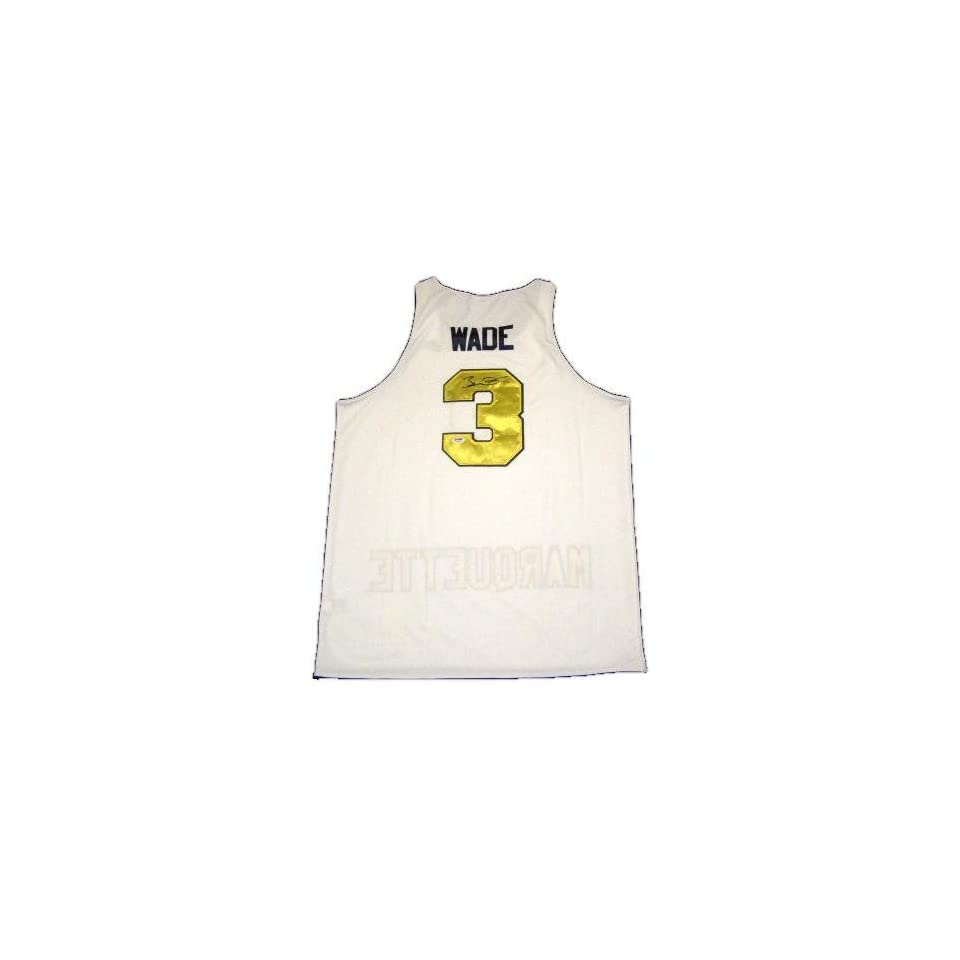 new product 2cb8a e11be Dwyane Wade Autographed Marquette Jersey on PopScreen