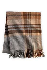 Fair Indigo Pure Alpaca Plaid Throw