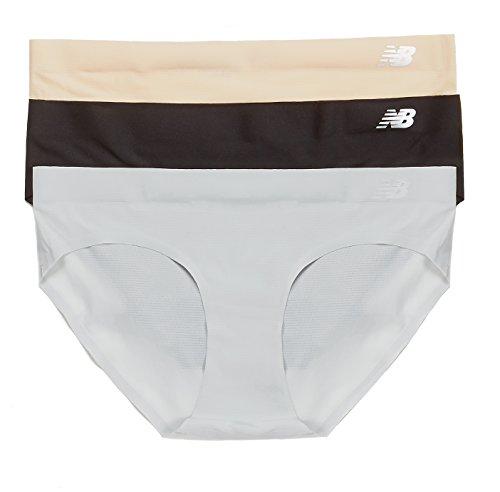 New Balance Women's Breathe Hipster Panties (3 Pack), Nude/Black/Concrete Grey, Medium (Champion Womens Underwear compare prices)