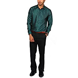 Provogue Men's Casual Shirt (8903522348181_101994-GR-216_X-Large_Petrol)
