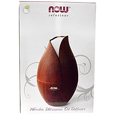 Now Foods, Solutions, Wooden Ultrasonic Oil Diffuser, 1 Piece
