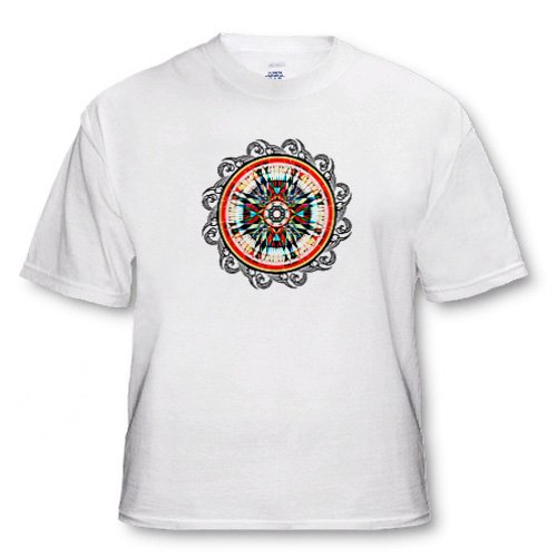 Totally Totem Earth tone colors are used in this Native American graphic design - Adult T-Shirt Medium