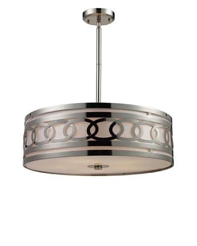 Artistic Lighting Zarah 5-Light LED Pendant, Polished Nickel
