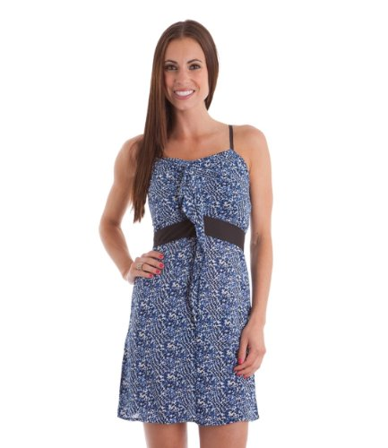 2Luv Women'S Ruffle Trim Tie Back Animal Print Dress Blue S(D3839)