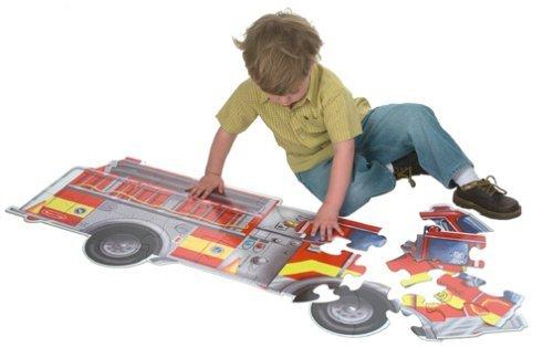 Melissa & Doug Giant Fire Truck Floor Puzzle Toy, Kids, Play, Children front-700774
