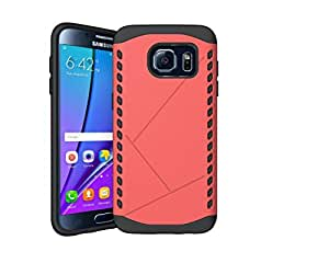 98Gadgets 2 In 1 Hybrid Case Cover For Samsung Galaxy S6 Edge Hard Cool Slim Cover Protective Tomato Red