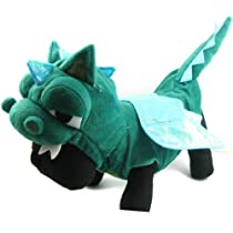 Alfie Couture Designer Pet Apparel - Smokie the Dragon Dinosaur Costume - Color: Green Size: S
