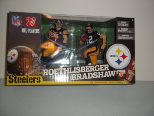 McFarlane NFL 2-Pack Pittsburgh Steelers Ben Roethlisberger and Terry Bradshaw