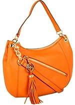 Hot Sale Michael Kors Charm Tassel Convertible Shoulder Bag (Tangerine)