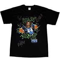 "Seahawks Marshawn Lynch Autographed ""Beast Mode"" T-Shirt Size: X-Large PSA/DNA"
