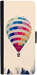Snoogg Hot Air Ballooning Graphic Snap On Hard Back Leather + Pc Flip Cover S...