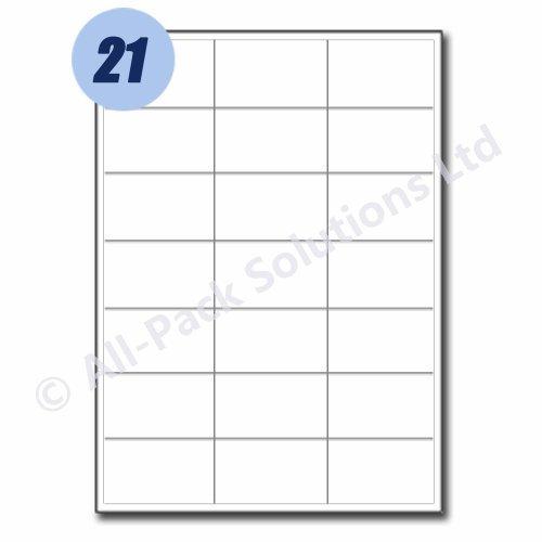 25 feuilles d'étiquettes d'adresse 21 par feuille 200 x 289 mm