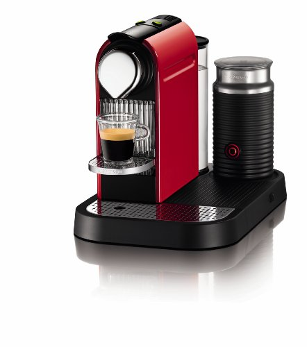 Nespresso CitiZ C120 Automatic and programmable Espresso and Lungo Machine w/Frother, Fire-engine red