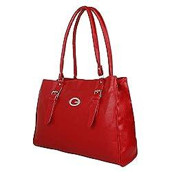 Glory Fashion Women's Stylish Handbag Red BB-001-B00191