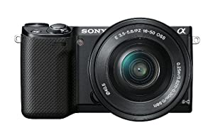 Sony NEX5RL/B 16.1 MP Compact Interchangeable Lens Digital Camera 16-50mm Power Zoom Lens and 3-Inch LED (Black)
