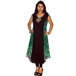 Atulya Women's Embroidered Kurti (ATKSS1502G_Green_Large)