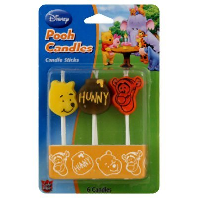 Winnie The Pooh Pick Candles (Pack Of 6) - 1