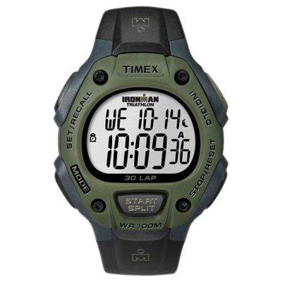 Timex Ironman 30-Lap Watch, Green/Black front-458840