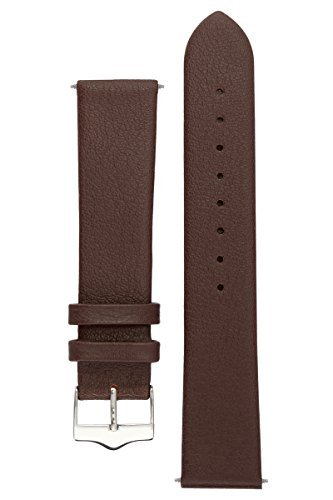 Signature Easy in brown 20 mm extra-long watch band. Replacement watch strap. Genuine leather. Silver Buckle (12mm Extra Long Watch Strap compare prices)