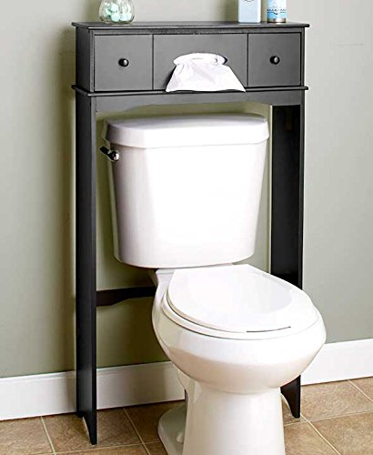 Wooden Bathroom Space Saver Black
