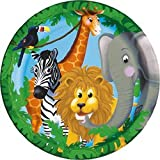 Jungle Pals Party Plates (Pack Of 8)