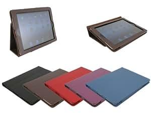 Eloja iPad 4, iPad 4, iPad 2 s Tasche Hülle Case, Braun, mit Display Schutzfolie und Tuch