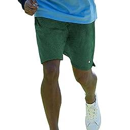 Champion Men\'s Mesh Short, Dark Green, Large