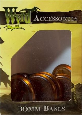 Wyrd Miniatures Malifaux 30mm Translucent Brown Bases Model Kit (10 Pack) - 1