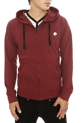 RUDE Black And Red Striped Hoodie