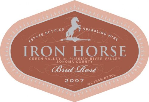 Iron Horse Vineyards 2007  Rose Brut, Russian River Valley 750 mL