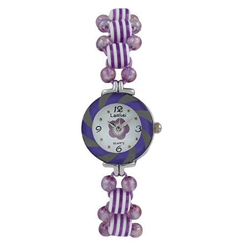 Glitter Purple Retro Look Bracelet watch for Girls