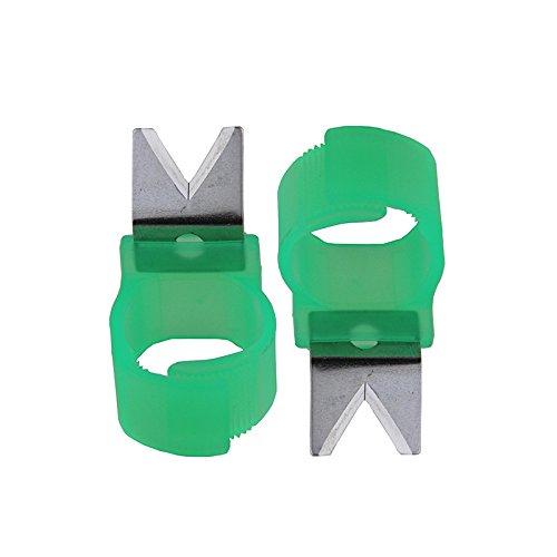5pcs Adjustable Vegetable Fruit Picker Picking Finger Ring Harvesting Cut Tool (V-Shape) (Grape Fruit Picker compare prices)