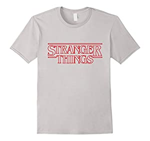 Men's Stranger And Thing T-Shirt Small Silver